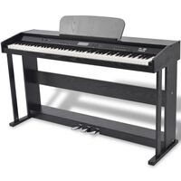 vidaXL 88klávesové digitální piano s pedály černá melaminová deska