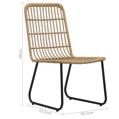 vidaXL Zahradní jídelní židle 2 ks polyratan dub