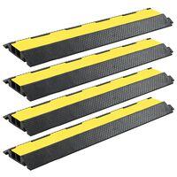 vidaXL Kabelové ochranné mosty 4 ks 2 kanálky gumové 101,5 cm