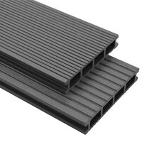 vidaXL WPC podlahová prkna na terasu + příslušenství 26 m² 2,2 m šedá