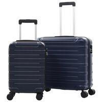 vidaXL Sada skořepinových kufrů na kolečkách 2 ks námořnická modrá ABS