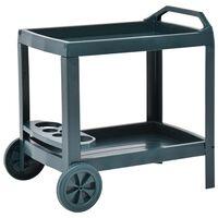 vidaXL Nápojový vozík zelený 69 x 53 x 72 cm plast