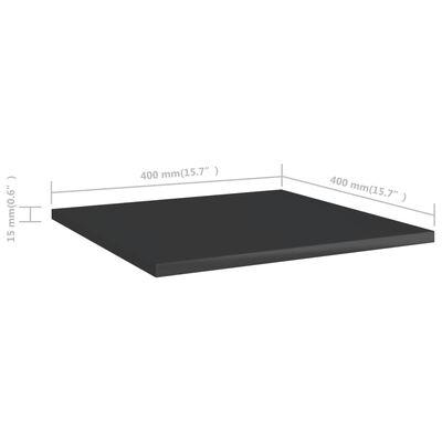 vidaXL Přídavné police 4 ks černé vysoký lesk 40x40x1,5 cm dřevotříska