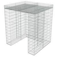 vidaXL Gabionová zástěna pro popelnici 110x100x130 cm pozinkovaná ocel