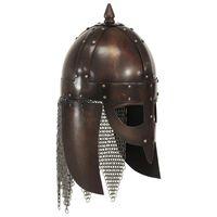 vidaXL Vikingská válečnická přilba pro LARPy replika měděná ocel