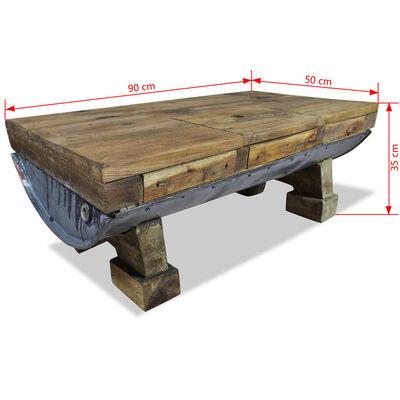 vidaXL Konferenční stolek, masivní recyklované dřevo, 90x50x35 cm