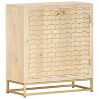 vidaXL Příborník zlatý 60 x 30 x 70 cm masivní mangovníkové dřevo