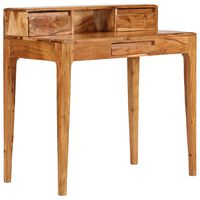vidaXL Psací stůl se zásuvkami z masivního dřeva 88 x 50 x 90 cm