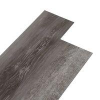vidaXL Podlahová krytina PVC 4,46 m² 3 mm samolepicí pruhované dřevo