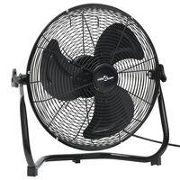 vidaXL Podlahový ventilátor 3 rychlosti 45 cm 60 W černý