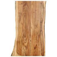 vidaXL Stolní deska masivní akáciové dřevo 100 x (50–60) x 2,5 cm