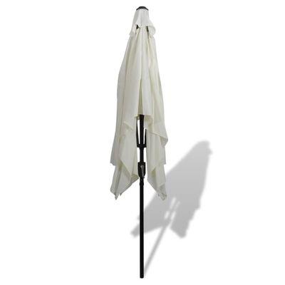 vidaXL Slunečník 200 x 300 cm pískově bílý obdélníkový