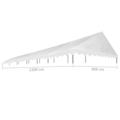 vidaXL Střecha k party stanu 6 x 12 m bílá 450 g/m²