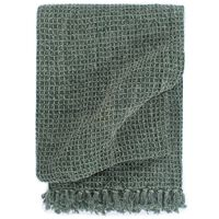 vidaXL Přehoz bavlna 125 x 150 cm tmavě zelený