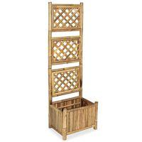 vidaXL Vyvýšený záhon s treláží bambus 40 cm