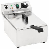 vidaXL Elektrická fritéza nerezová ocel 10 l 3 000 W
