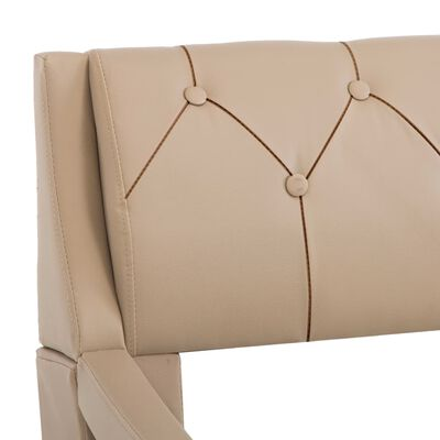 vidaXL Rám postele cappuccino umělá kůže 90 x 200 cm