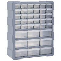 vidaXL Organizér s 39 zásuvkami 38 x 16 x 47 cm