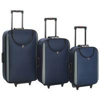 vidaXL Měkké kufry na kolečkách 3 ks námořnicky modré oxfordská látka