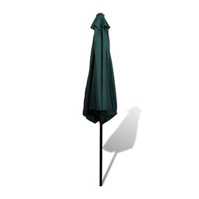 Slunečník zelený 3 m s ocelovou tyčí