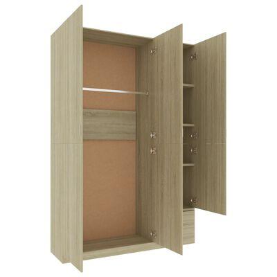 vidaXL 3dveřová šatní skříň dub sonoma 120 x 50 x 180 cm dřevotříska