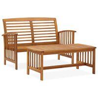 vidaXL 2dílná zahradní sedací souprava masivní akáciové dřevo