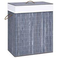 vidaXL Bambusový koš na prádlo šedý 83 l