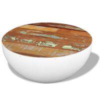 vidaXL Miskovitý konferenční stolek recyklované dřevo 60 x 60 x 30 cm