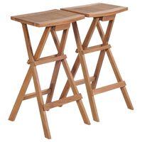 vidaXL Skládací barové stoličky 2 ks masivní teak