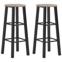 vidaXL Barové stoličky 2 ks černé MDF