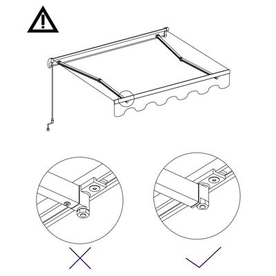 vidaXL Automatická zatahovací markýza 600 x 300 cm krémová