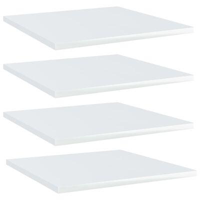 vidaXL Přídavné police 4 ks bílé vysoký lesk 40x40x1,5 cm dřevotříska