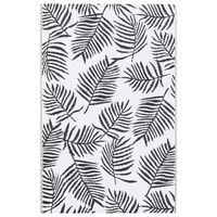 vidaXL Venkovní koberec bílý a černý 160 x 230 cm PP