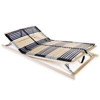 vidaXL Lamelový rošt postele se 42 lamelami 7 zón 140 x 200 cm