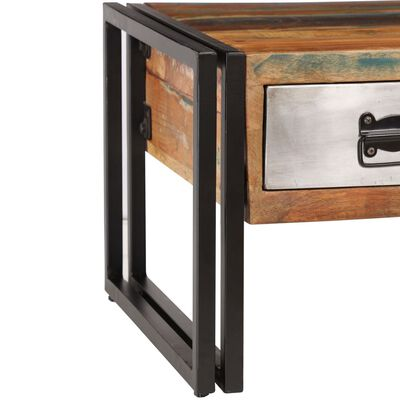 vidaXL Konferenční stolek se 3 zásuvkami recyklované dřevo 100x50x35cm