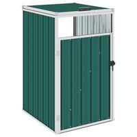 vidaXL Přístřešek na popelnici zelený 72 x 81 x 121 cm ocel