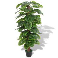 vidaXL Umělá rostlina kolokázie s květináčem 145 cm zelená