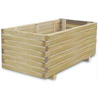 vidaXL Vyvýšený záhon 100 x 50 x 40 cm dřevo obdélníkový