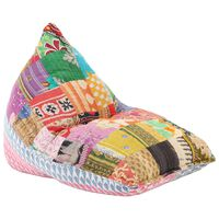 vidaXL Sedací vak vícebarevný textil patchwork