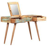 vidaXL Toaletní stolek se zrcadlem 112 x 45 x 76 cm recyklované dřevo
