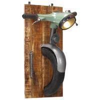 vidaXL Nástěnná lampa design motorka železo a masivní mangovník
