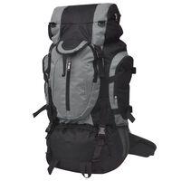 vidaXL Outdoorový batoh / krosna XXL 75 l černo-šedý