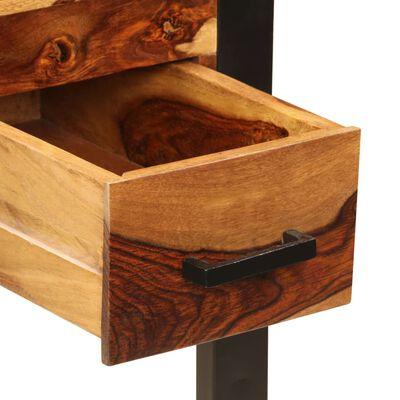 vidaXL Psací stůl se 2 zásuvkami 110 x 50 x 77 cm masivní sheesham