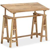 vidaXL Kreslicí/rýsovací stůl z masivního mangovníku 116 x 50 x 76 cm