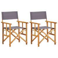 vidaXL Režisérské židle 2 ks masivní akáciové dřevo