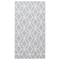 vidaXL Venkovní koberec šedý 190 x 290 cm PP