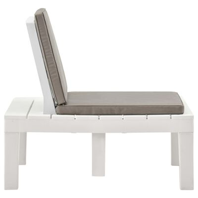 vidaXL 3dílná zahradní sedací souprava plast bílá, White