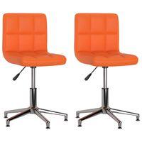 vidaXL Otočné jídelní židle 2 ks oranžové umělá kůže