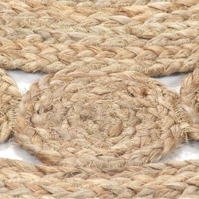 vidaXL Kusový koberec z juty se splétaným designem 120 cm kulatý