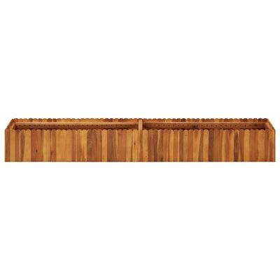 vidaXL Zahradní vyvýšený záhon 200 x 30 x 25 cm masivní akáciové dřevo